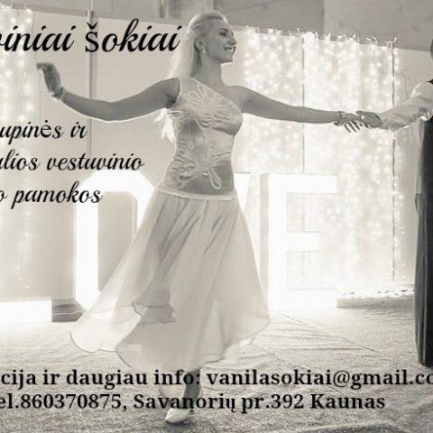 Vestuvinio, pamergių, mergvakario šokio mokymas